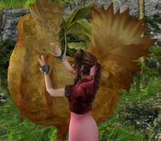 Taming A Chocobo by nasiamarie88