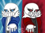 Undertale and Underfell by Razzle-The-Dazzle