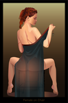 Female on chair by GraphicDream