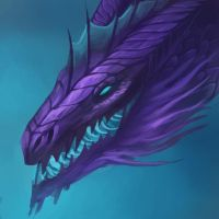 Purple dragon icon by neylica