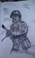 Russian Soldier, 1943. I might scrap this. by JimCaspian