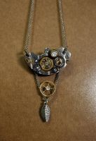 Steampunk necklace 1 by Catarios