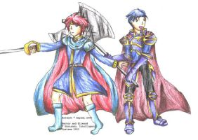 Hector and Eliwood by ALynnL