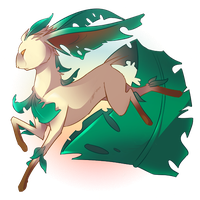 Leafeon by sabretoothlioness