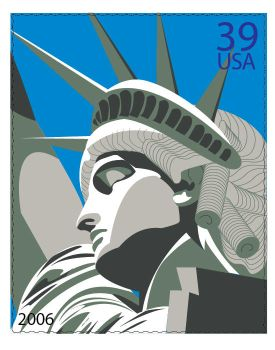 Statue of Liberty Stamp by gijen3