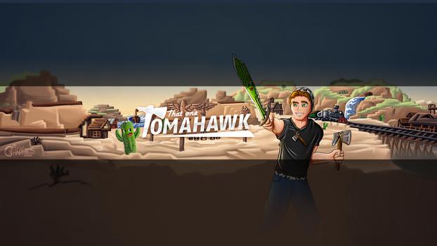 Youtube Banner Design for ThatOneTomahawk by FinsGraphics