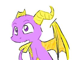 FIrst attempt at Spyro by invaderkiwi