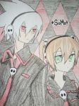 Soul and Maka colored by xs1l3ntxheartx