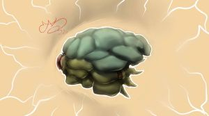 flying brain... thingy by SHARK-E