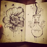 Flower and lightbulb by lolitalolly