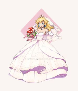 Wedding Peach by Ayshiun