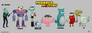 Thunder Muffins Character Line- Up by AndrewKwan