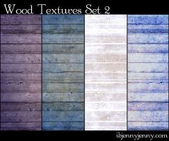 4 More Colored Wood Textures by ibjennyjenny
