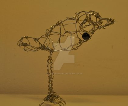 'Ralph', the Wire Bird by FarTooManyIdeas