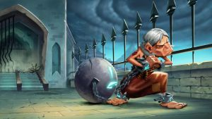 Dungeon Defenders Prisoner Illustration by DanielAraya