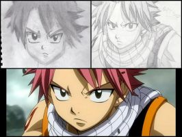 Drawing Natsu with my friend Kyle! by XWorld-DOMInationX