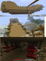 minecraft Airship WIP by warp2002