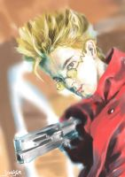 vash the stampede - portrait by jingjer