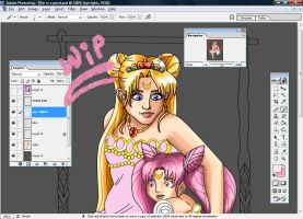 Sailor Moon WIP by Songficcer