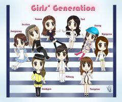 Girls' Generation SNSD by Ningaka