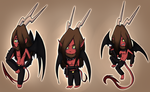 Chibi practice featuring evil incarnated by ElithianFox