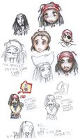 Expressions of Jack Sparrow by laritheloud
