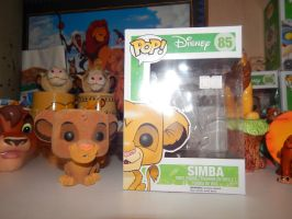 Lion King Flocked Simba Funko pop by LittleRolox3