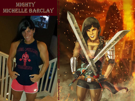 Mighty Michelle Barclay By Ulics by zenx007