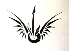 Winged Guitar by Drassa-DX