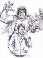 Hulk... black and white by Simon-Williams-Art