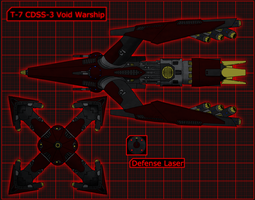 T-7 CDSS-3 Void Warship by 0verlordofyou