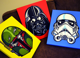 Star Wars Helmet Trio by Bree-Kim