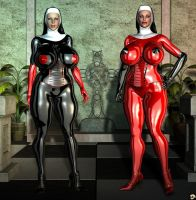 Latex Nuns II by XSkullheadX