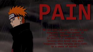 Pain wallpaper (Fixed Text) by Blaze-5555