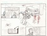 3rd Eye Society webcomic, strip 7, pencil by Nicky-Fingaz