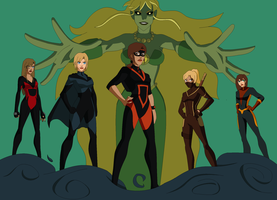 Siren's Rising: Team Tartarus by WickedCurlyFeather