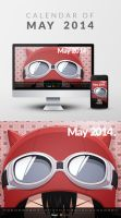 Freebie: Wallpaper Calendar of May 2014 by yahya12