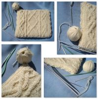 Little handknitted cushion by TinyWild