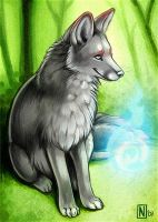 ACEO - WingedWolf by Nimrais