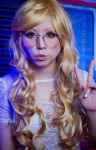 Blonde megane girl by Witchiko