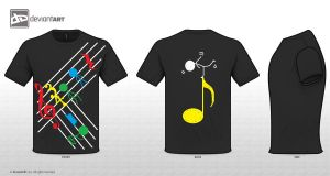 Musically Inspired T-Shirt Design by whatisthis25