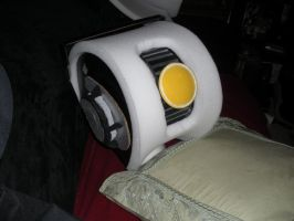GLaDos costume head about 50 percent finished. by Seras-Loves-Master