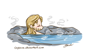 Avengers AoU - Bath Time Thor by caycowa