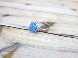 Wire Wrapped Blue Ring by lovebirdcreations