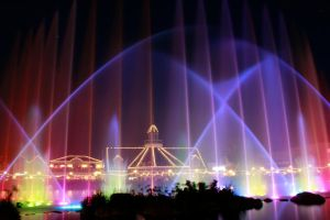 Fountain Lights by LS-Coloringlife