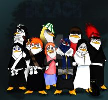 BLEACH Penguins by ExtremePenguin