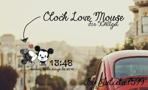 Clock Love Mouse By Julieta7599~ by Julieta7599
