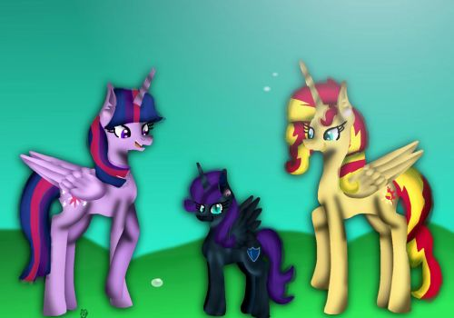 Sunset, Nyx and twilight (request) by Nyx360