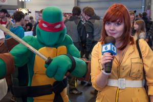 Leonardo and April O'Neil @ FACTS 2012 by KillingRaptor