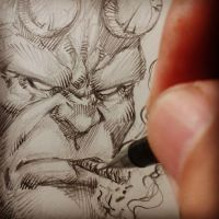 #sketch #hellboy by MARCIOABREU7
